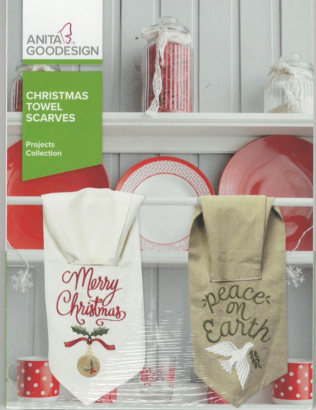 Anita Goodesign Machine Embroidery designs Christmas Towel Scarves Full Collection