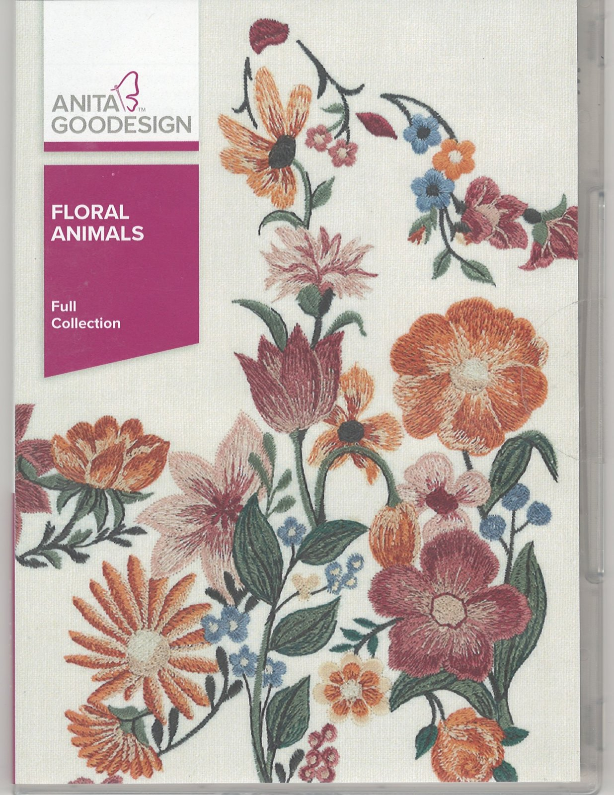 Anita Goodesign Machine Embroidery Designs Floral Animals Full Collection CD