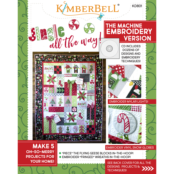 Kimberbell Jingle All The Way Machine Embroidery cd With Book