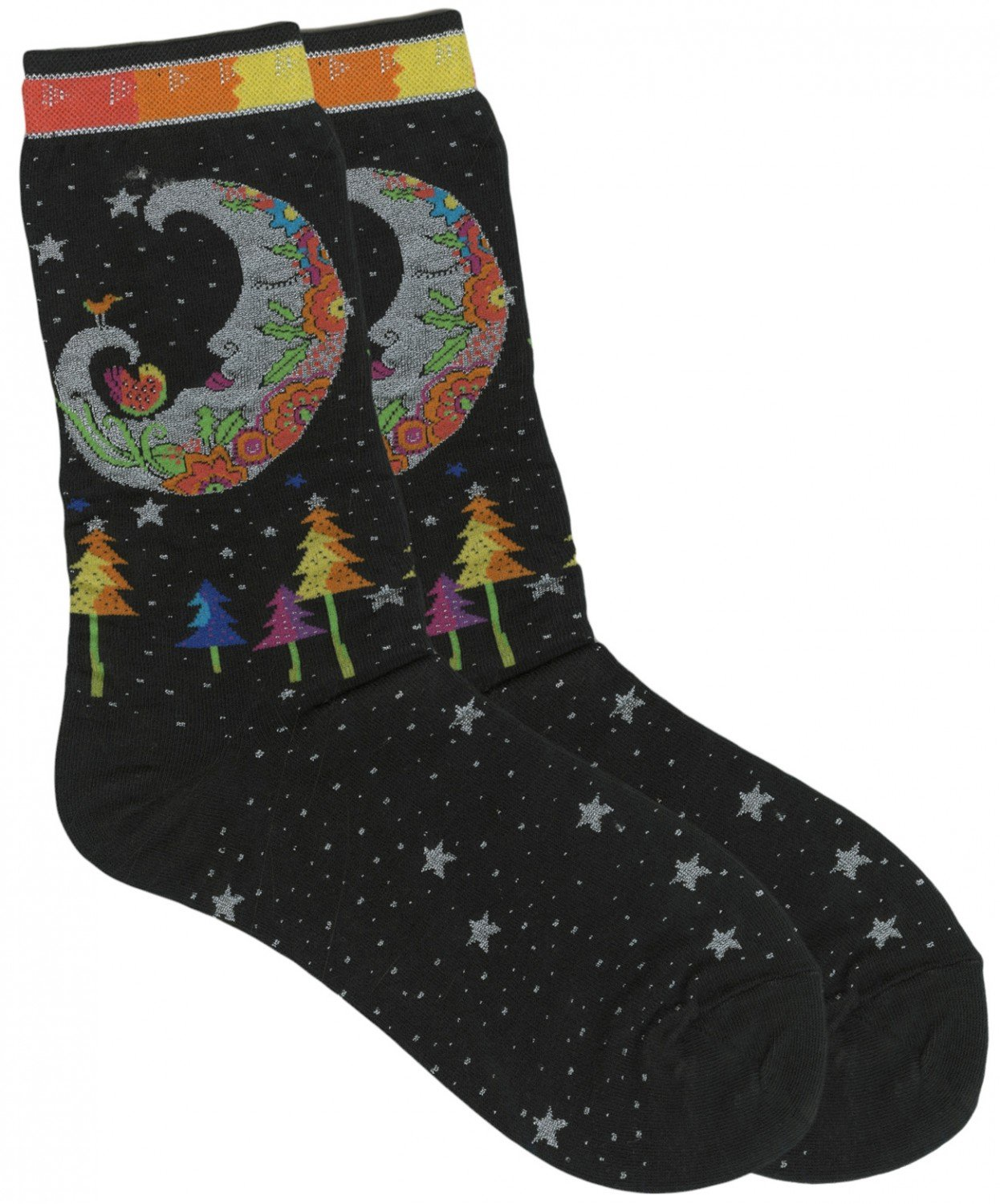 Laurel Burch Mystic Moon socks
