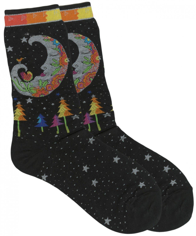 Laurel Burch Mystic Moon socks