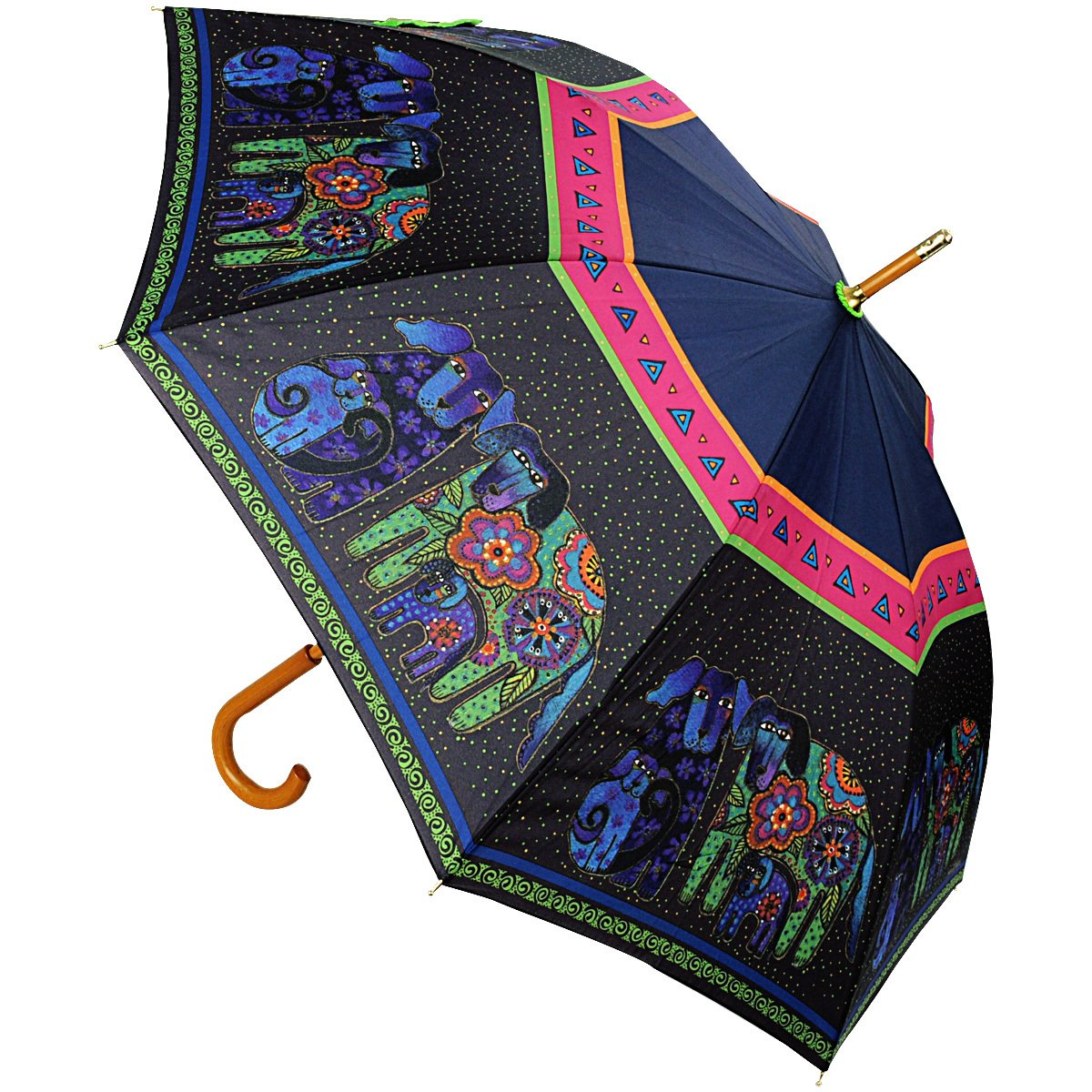 Laurel Burch Dog & Doggies Stick Umbrella