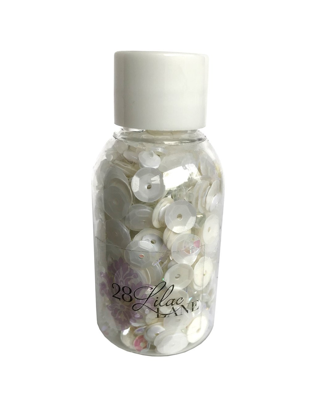 28 Lilac Lane Sequin & Bead Mix Winter Whites Bottle