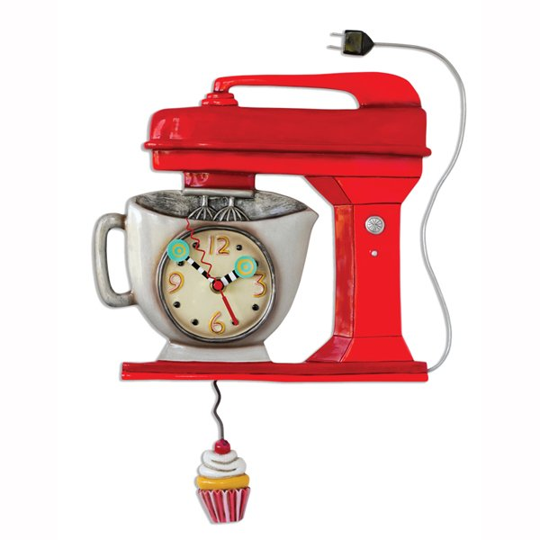 Allen designs Vintage Kitchen Mixer Red Clock