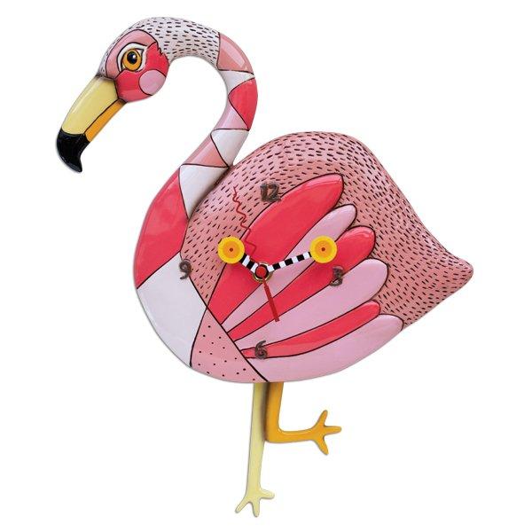 Allen designs Pink Flamingo CrazyLegs Clock