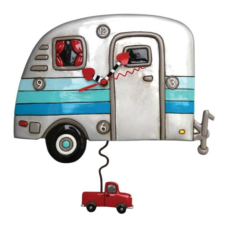 Allen Designs Happy Campers Retro Camp Trailer Clock
