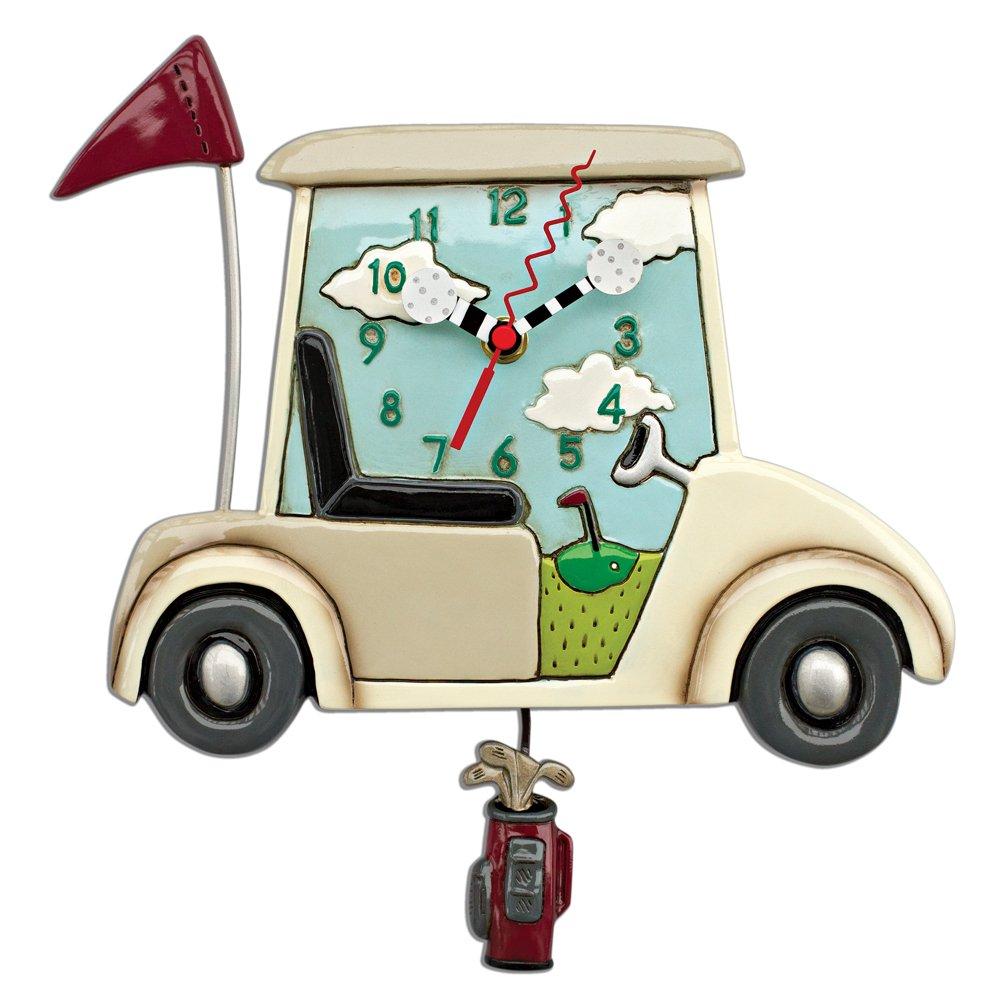Allen designs Stay The Course Golf Clock Pendulum Clock