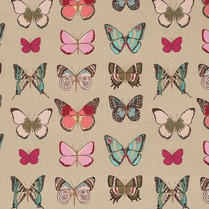 Alexander Henry Frida Kahlo El Tiempo de Mariposa Butterfly Tea Dye Cotton Fabric