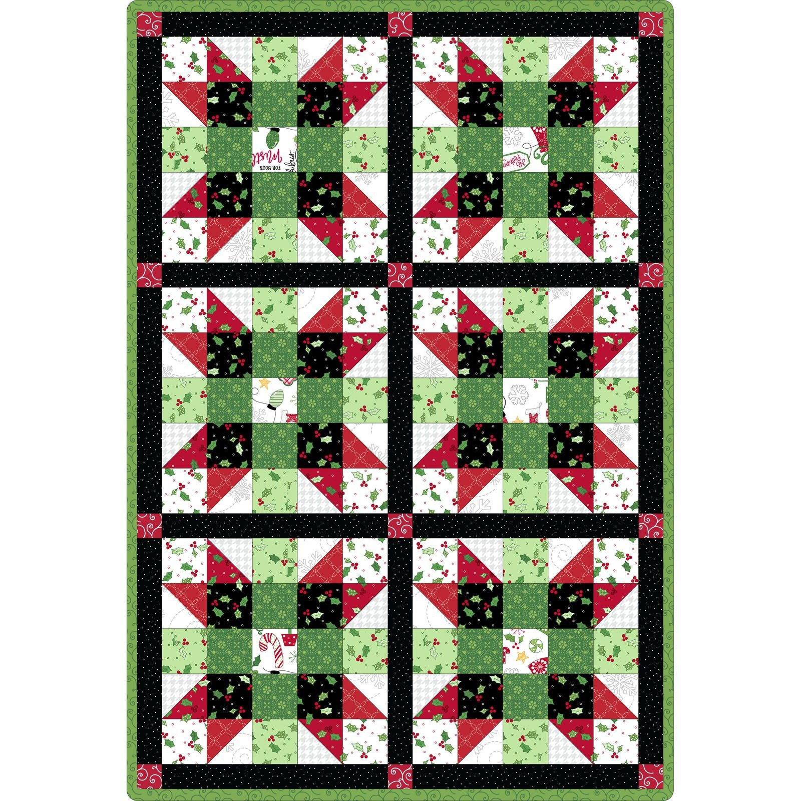 Maywood Studio Pods Easy Peasy Jingle All The Way Sisters Choice 6 Block Precut Quilt Kit