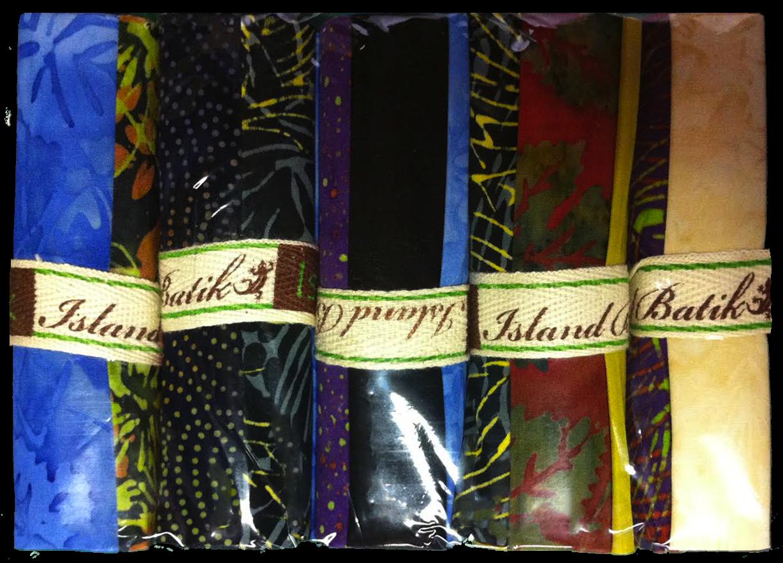 Island Batiks Stash Builder Package of 5 Strip Rolls