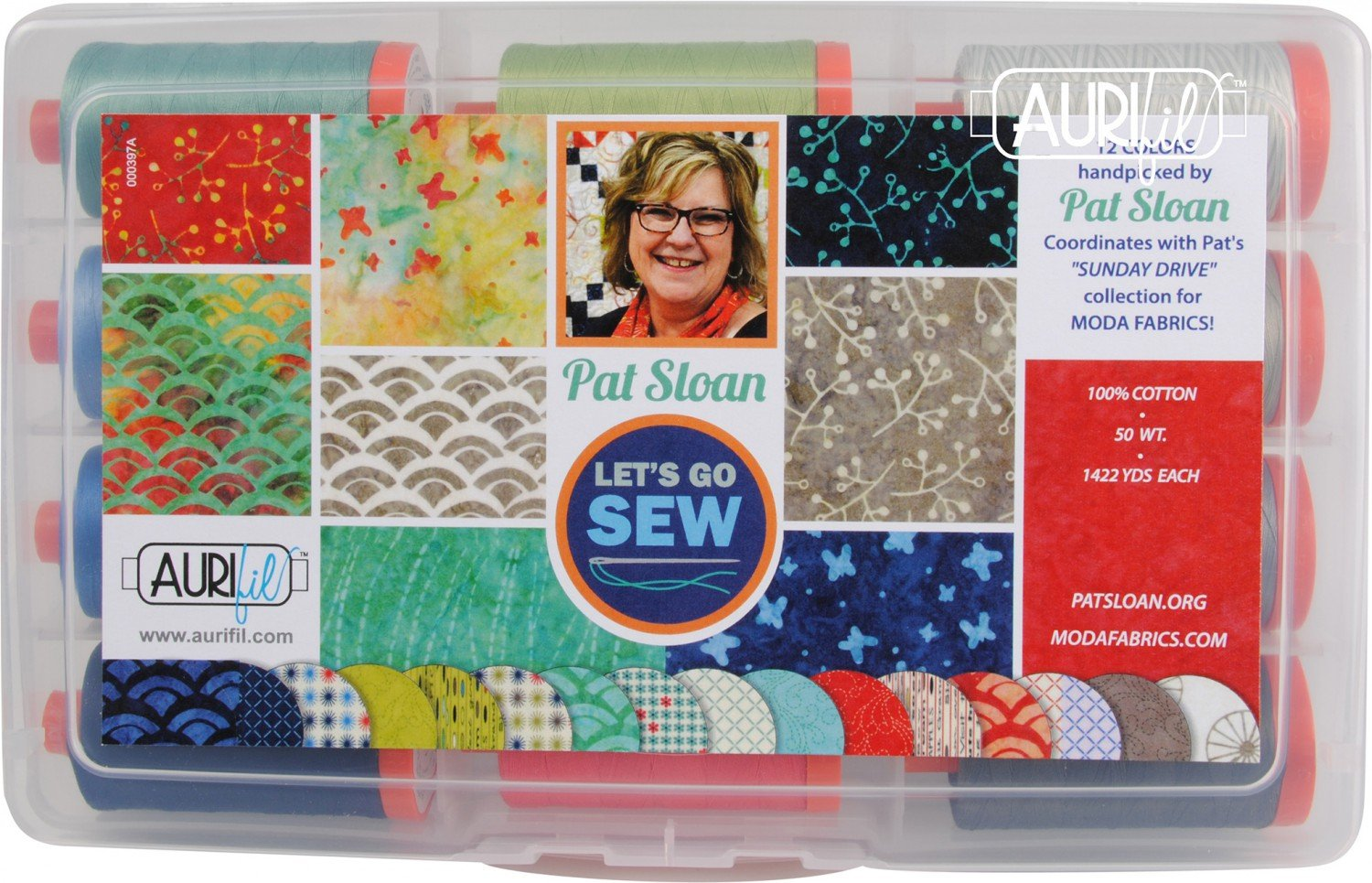 Aurifil Pat Sloan Perfect Box Of Colors Collection