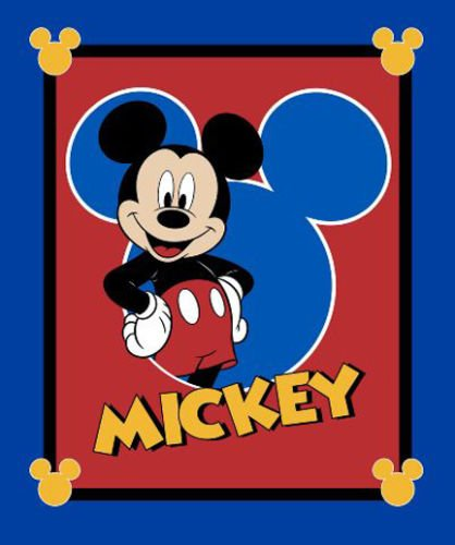 80cm French Terry Disney Panel Mickey Maus An American Classic Meterware Stoff