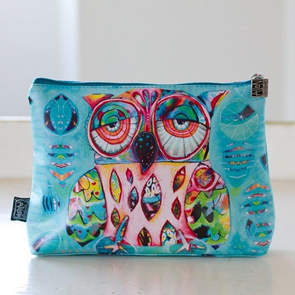 Allen Designs Owl Lg. Cosmetic Bag