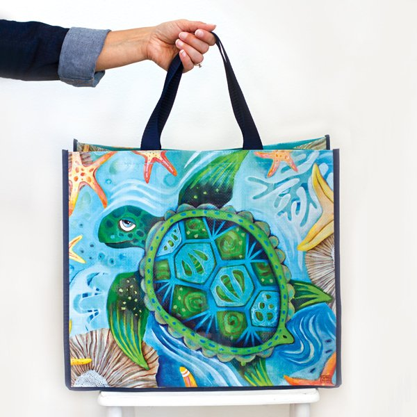 Allen Designs Happy Turtle Shopper Bag
