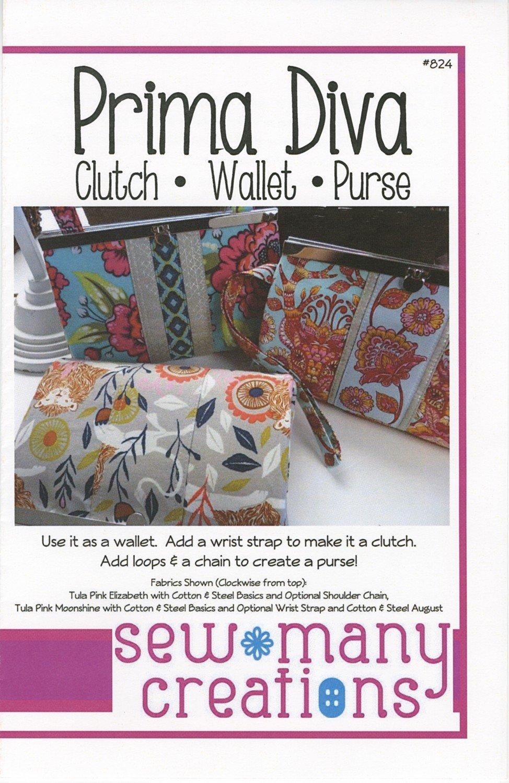 Prima Diva Clutch, Wallet, Purse Sewing Pattern