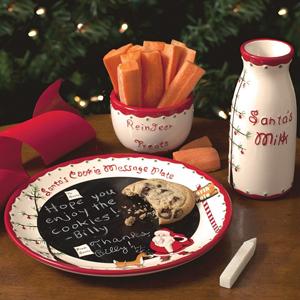Santa's Message Plate Set is On Sale!