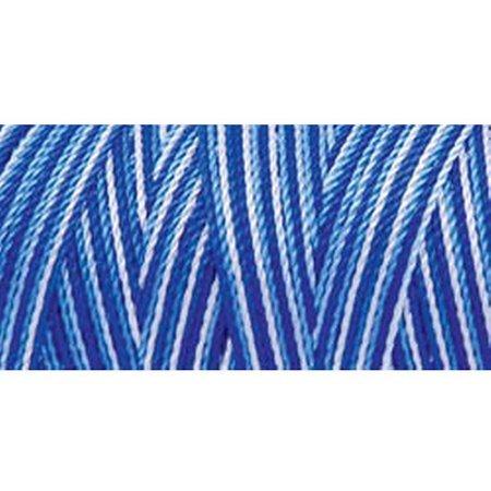 Omega 100% #38 Nylon Crochet Thread Blue Variegated