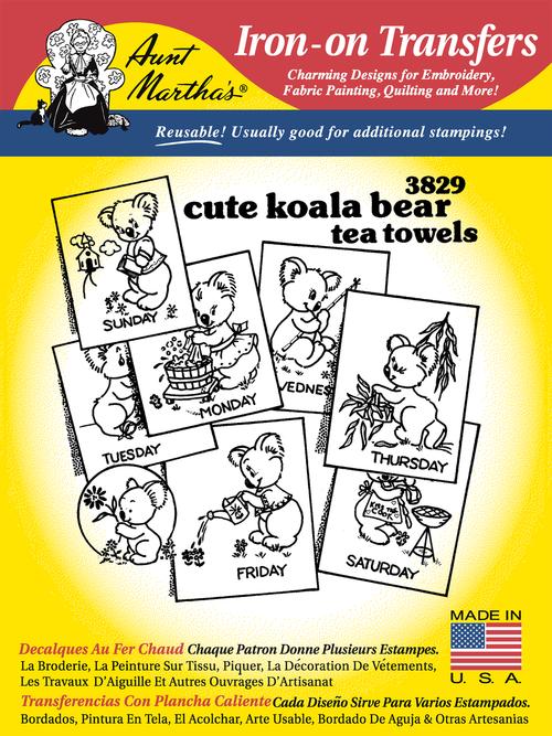 3829 Cute Koala Bear Tea Towels
