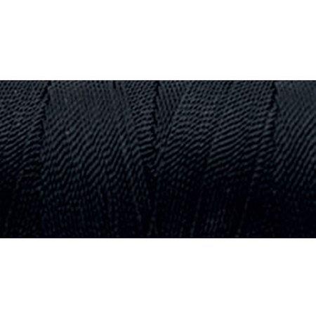 Omega 100% #20 Nylon Crochet Thread Black
