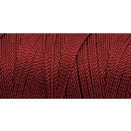 Omega 100% #8 Nylon Crochet Thread Dark Red