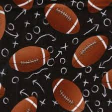 Timeless Treasures Black with Footballs