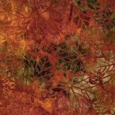 Batik Cornucopia 10 Rust