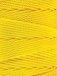 Omega 100% #5 Nylon Crochet Thread bright Yellow