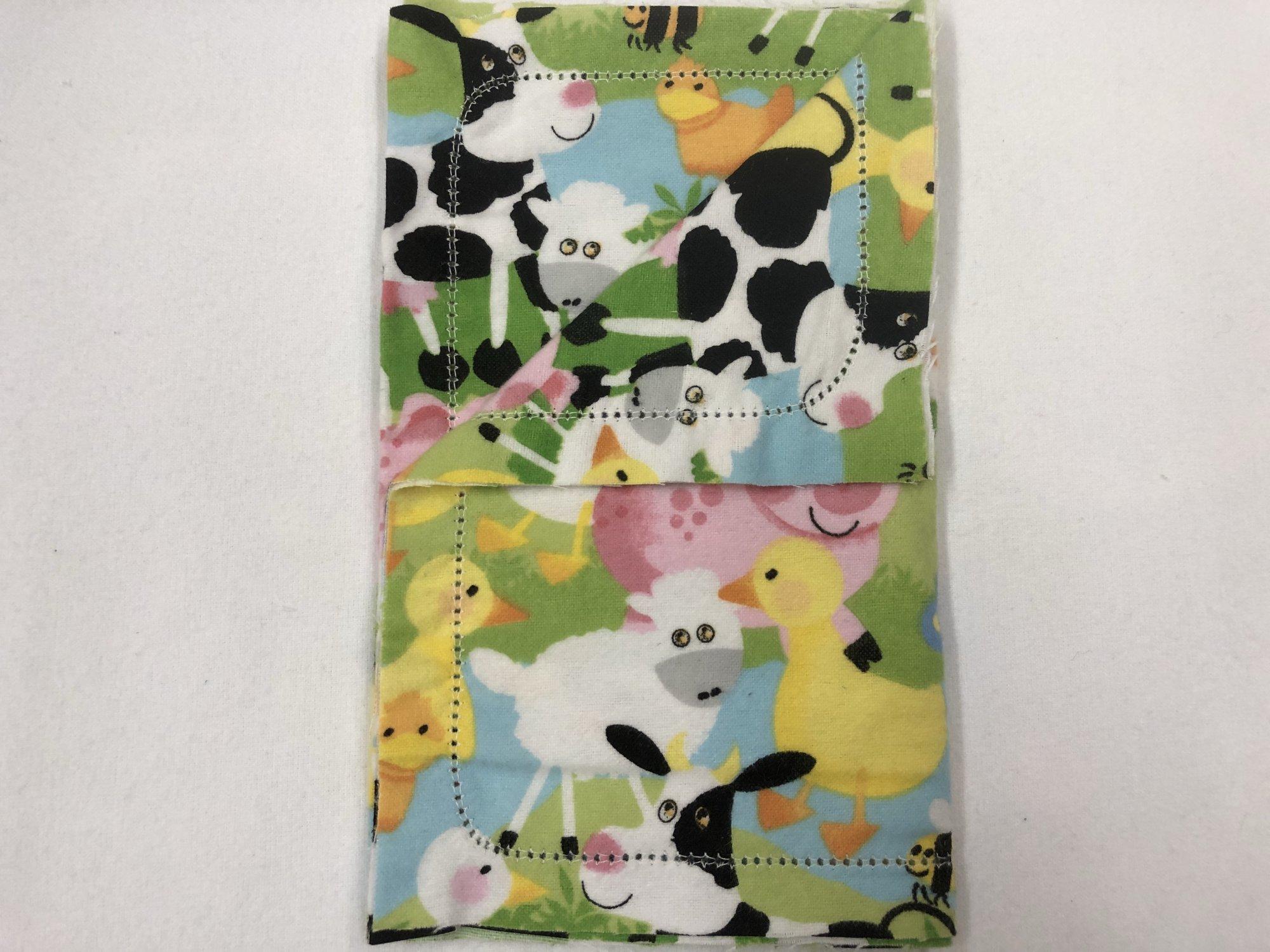 Farm animal collage burp