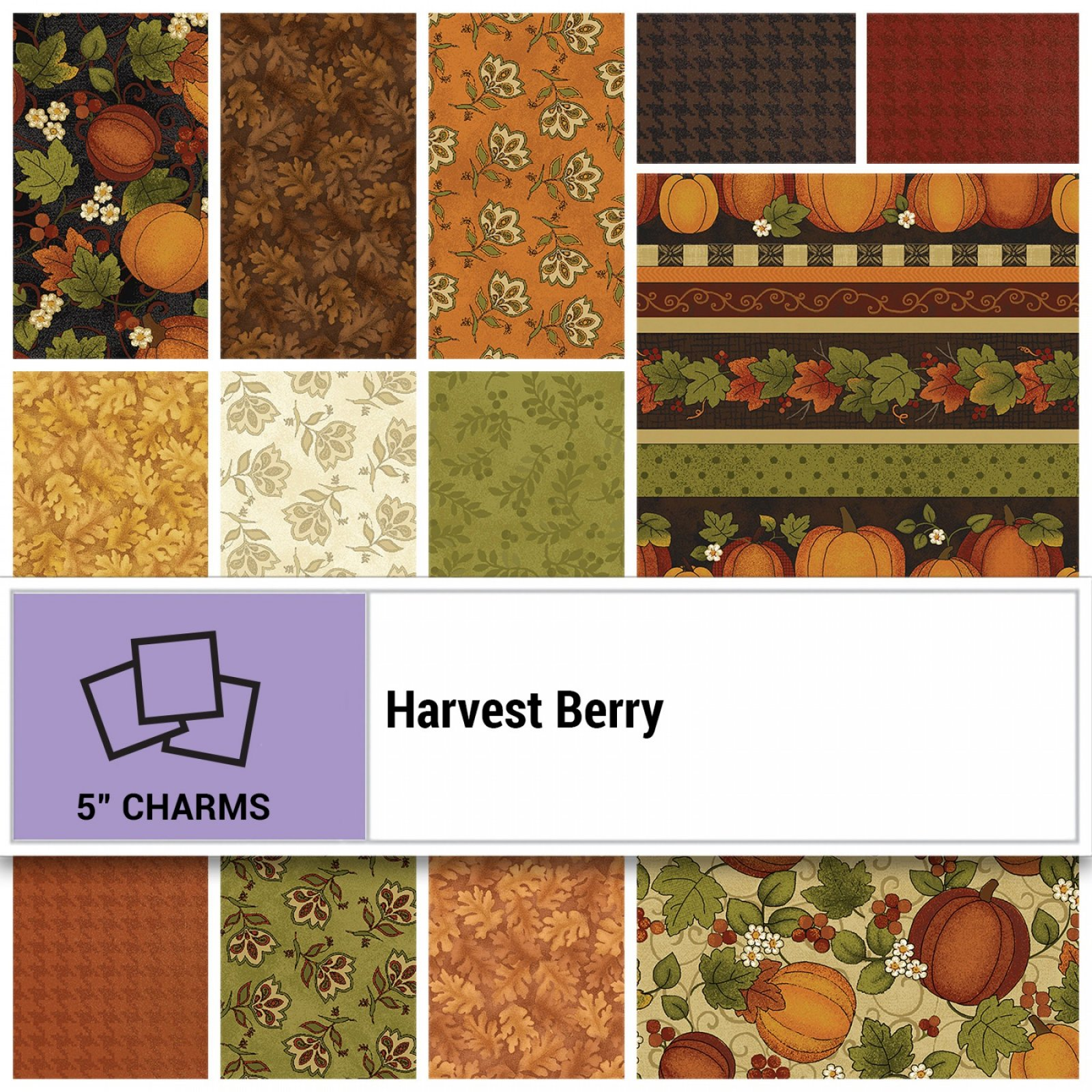 5in Squares Harvest Berry 42pcs, 12 bundles per box