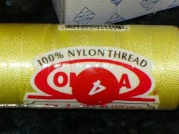 Omega 100% #4 Nylon Crochet Thread med. yellow