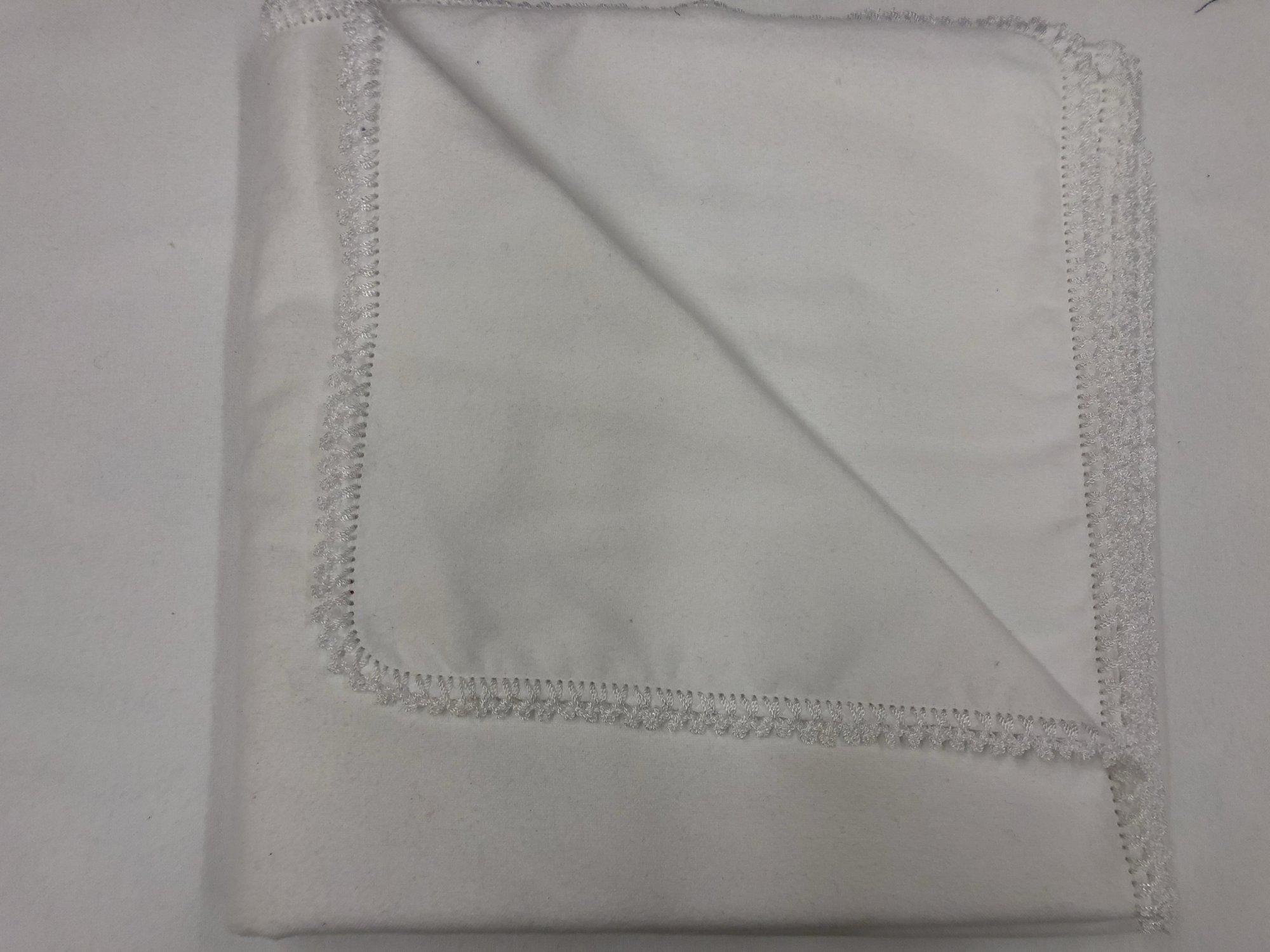 All white crocheted blanket