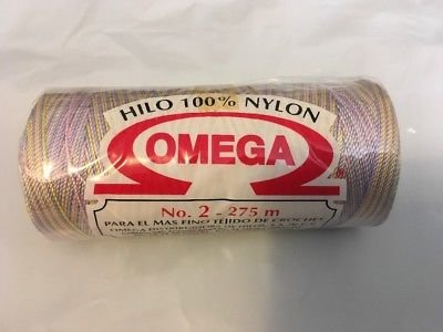 Omega 100% #66 Nylon Crochet Thread Variegated Pastel