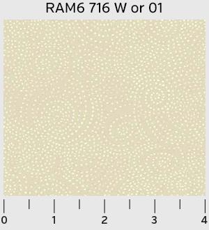 P & B Ramblings 6 Swirl Dots Ivory