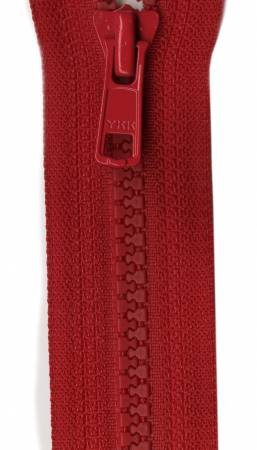 Vislon 1-Way Separating Zipper 20in Red