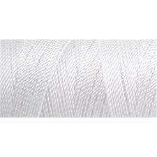 100% Nylon Crochet Thread White