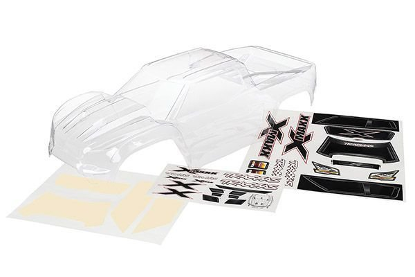Body X-Maxx Clear/Decal Sheet