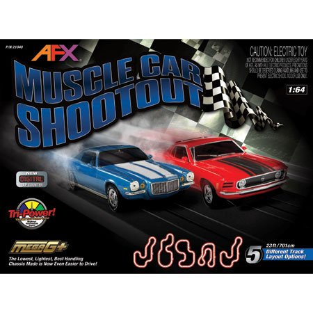 Muscle Car Shootout Set w/Digital Lap Counter, 23'