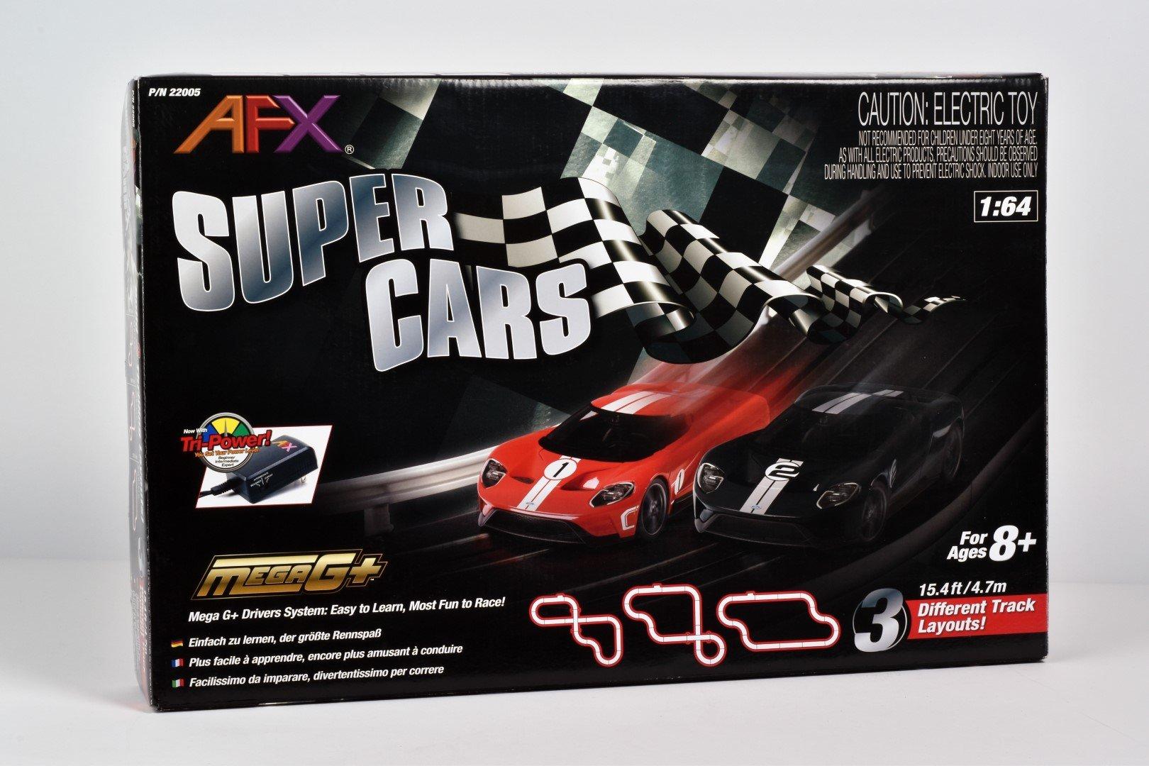 Super Cars Set;15ft Track,Mega G+ Chassis,Tri-Pack