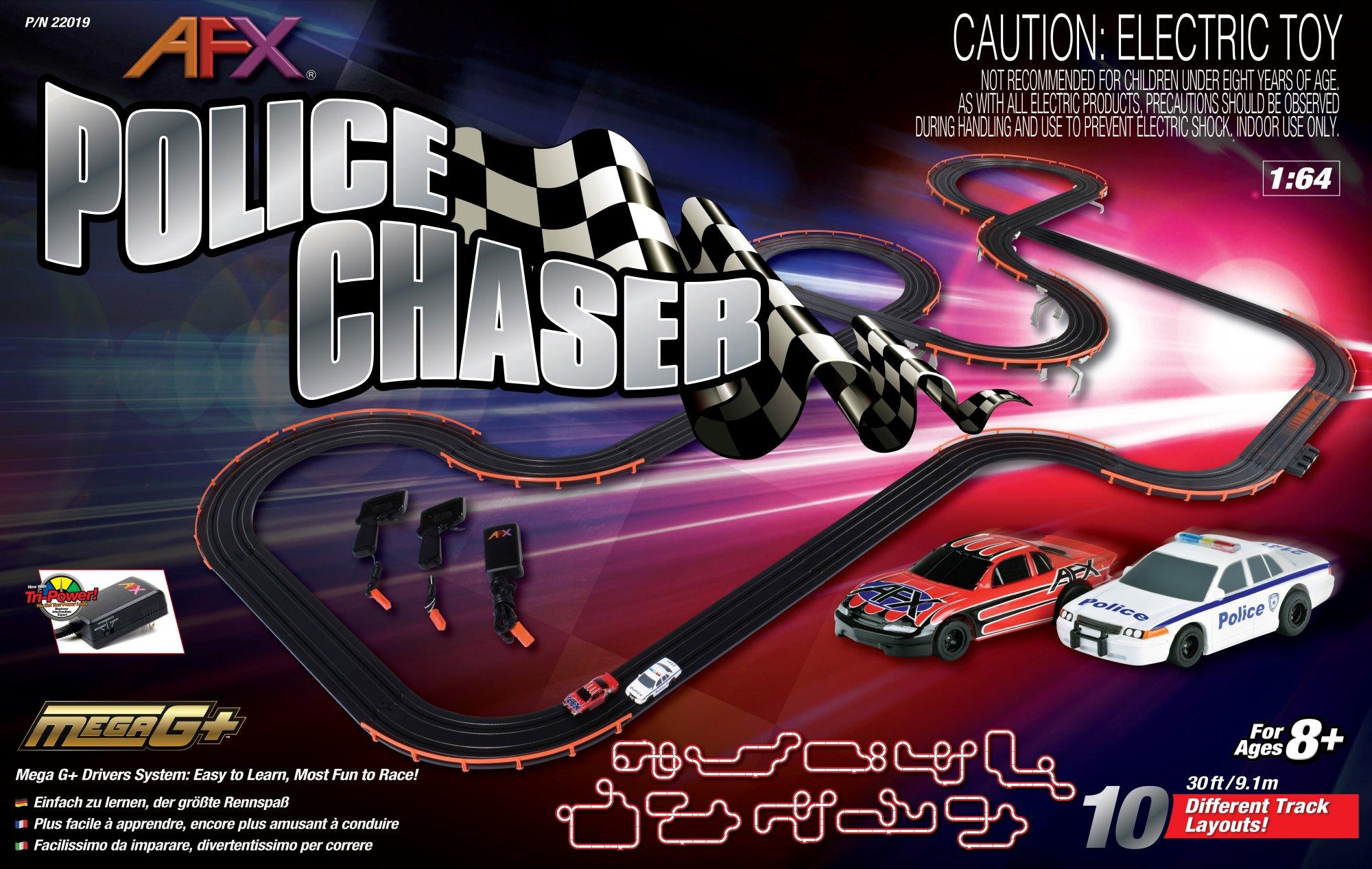 Police Chaser Set:30ft Track,Mega G+,Tri-Power Pck