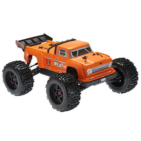 2019 1/8 Outcast 6S Stunt Truck 4WD Orange