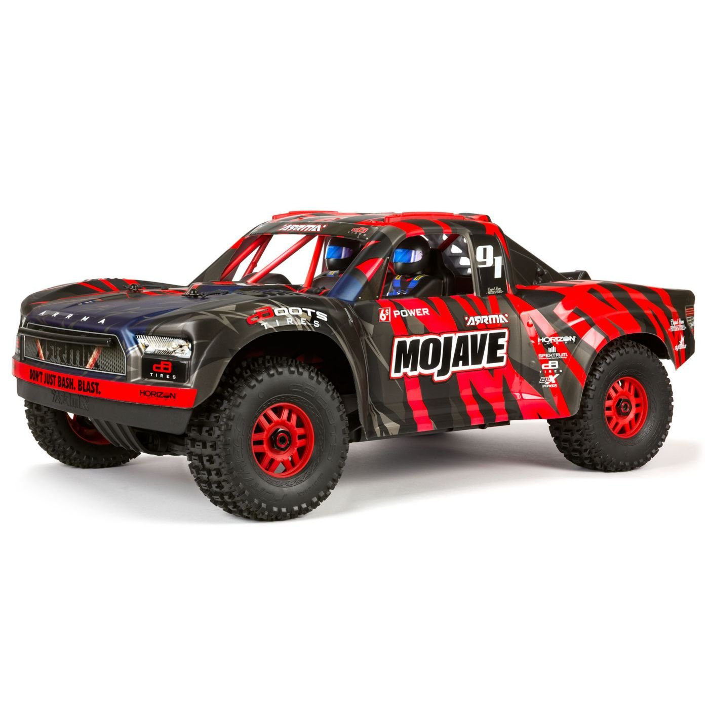 1/7 MOJAVE 6S BLX 4WD Desert Truck RTR, Black/Red