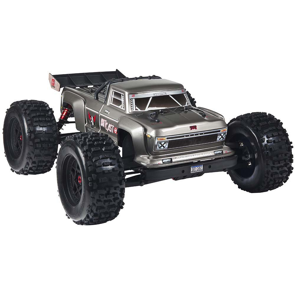 2018 1/8 Outcast 6S Stunt Truck 4WD Silver
