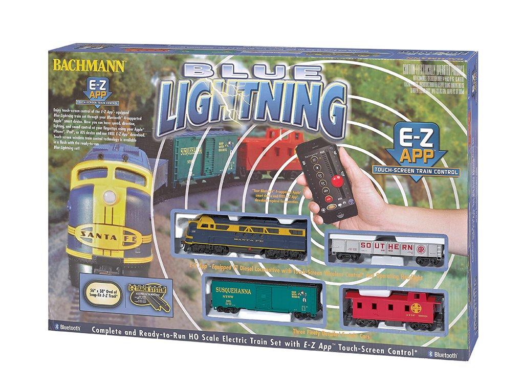 HO Blue Lightning Set w/E-Z App Train Control - 022899015019