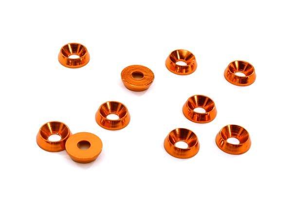 3mm Alloy Concave Washer (10) ORANGE