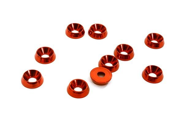 3mm Alloy Concave Washer (10) RED
