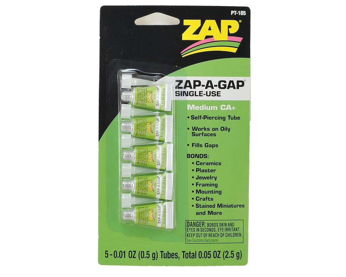 Zap-A-Gap CA+ Glue, Single-Use (5 per card)