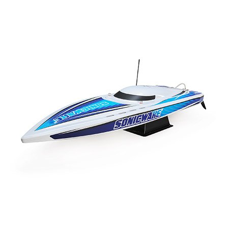 36 Sonicwake,Wht, Self-Right Deep-V Brushless RTR
