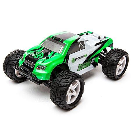 Seismic 1/18 4WD Monster Truck RTR: Green/White