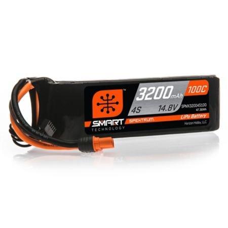 3200mAh 4S 14.8V 100C Smart LiPo Battery; IC3