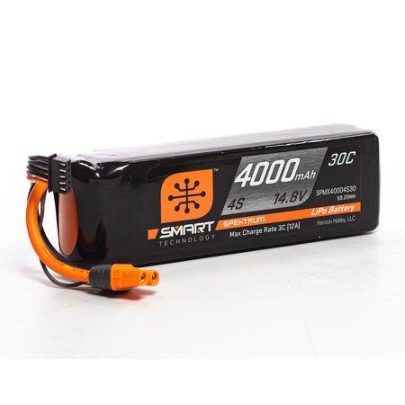 4000mAh 4S 14.8V Smart LiPo 30C; IC3